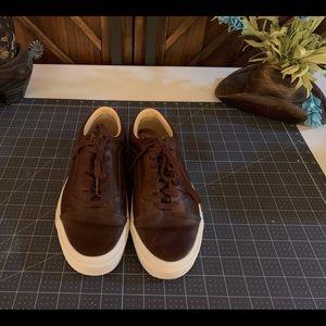 Vans Leather brown Old School Unisex Shoes